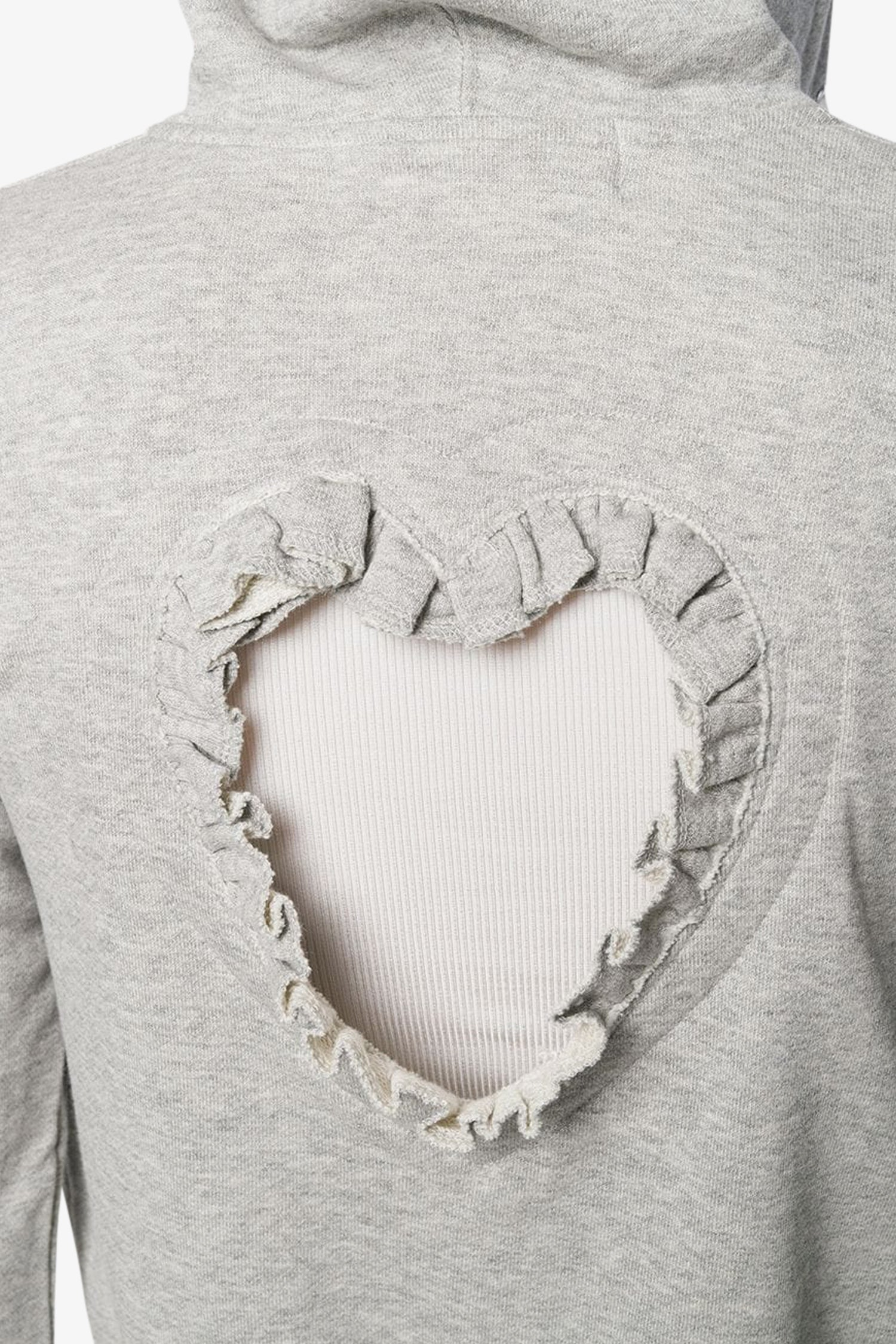 FRAME - COMME DES GARCONS GIRL Cut-Out Heart Fitted Hoodie