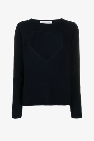FRAME - COMME DES GARCONS GIRL Cut-Out Heart Wool Sweater