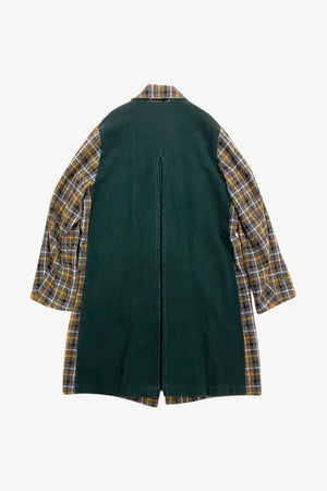 Selectshop FRAME - UNDERCOVER Plaid Wool Coat Outerwear Dubai
