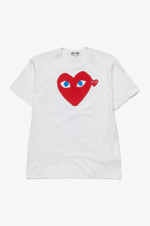 Selectshop FRAME - COMME DES GARCONS PLAY Big Red Heart Blue Eyes T-Shirt T-Shirt Dubai