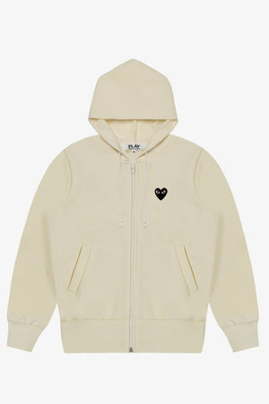Selectshop FRAME - COMME DES GARCONS PLAY Black Heart Zip Hoodie Sweatshirts Dubai