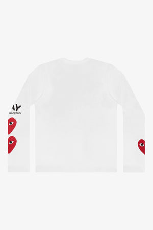 Selectshop FRAME - COMME DES GARCONS PLAY Three Heart Longsleeve T-Shirt Dubai