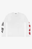 Selectshop FRAME - COMME DES GARCONS PLAY Four Heart Longsleeve T-Shirt Dubai