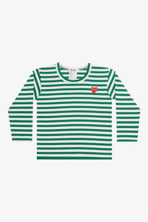 Selectshop FRAME - COMME DES GARCONS PLAY Green Stripes Longsleeve Kids Dubai