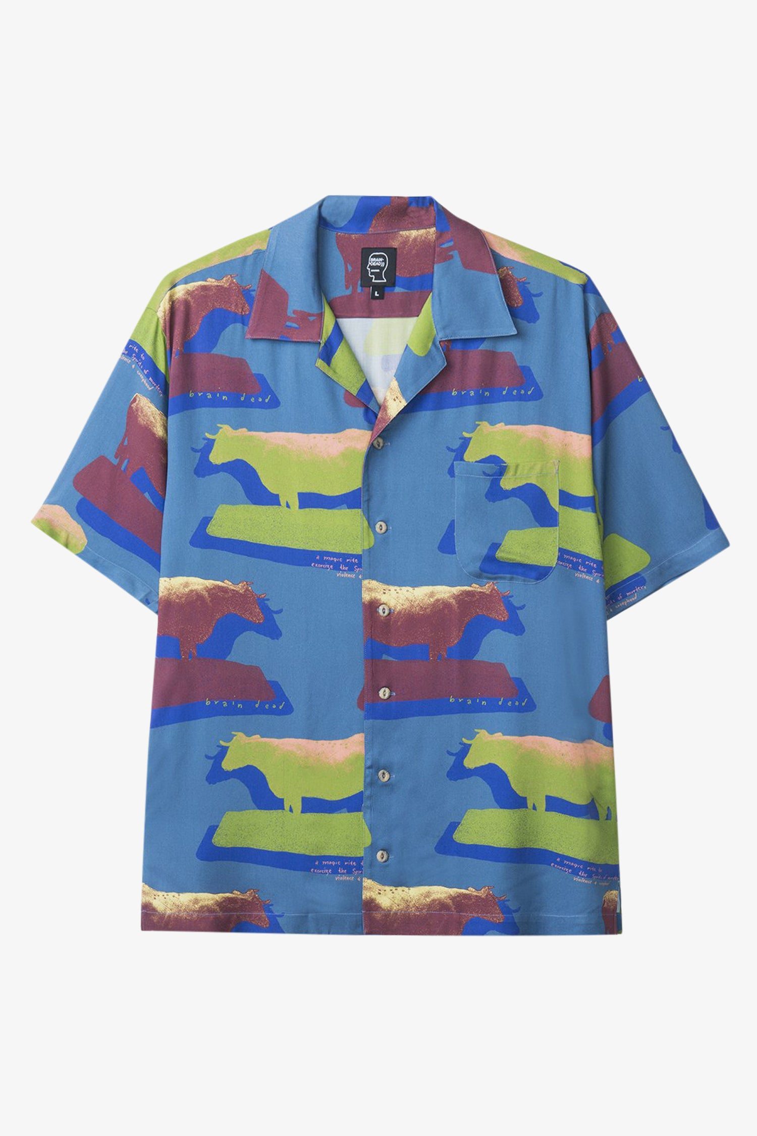 Selectshop FRAME - BRAIN DEAD Cow Short Sleeve Hawaiian Shirt Shirt Dubai