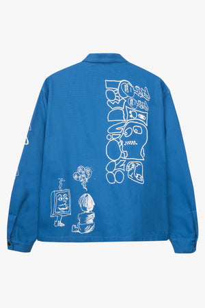 Printed Canvas Chore Coat