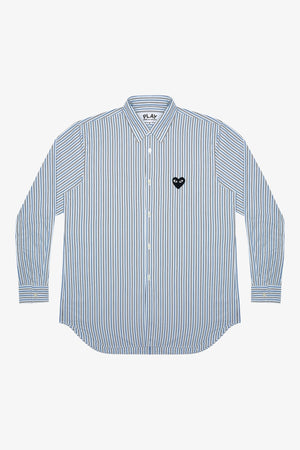 Selectshop FRAME - COMME DES GARCONS PLAY Black Heart Striped Shirt Shirts Dubai