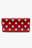 Printed Polka Dots Long Wallet