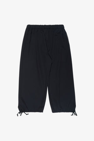 Cropped Drawstring Hem Trousers