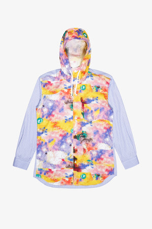 Futura Front Print Hooded Shirt