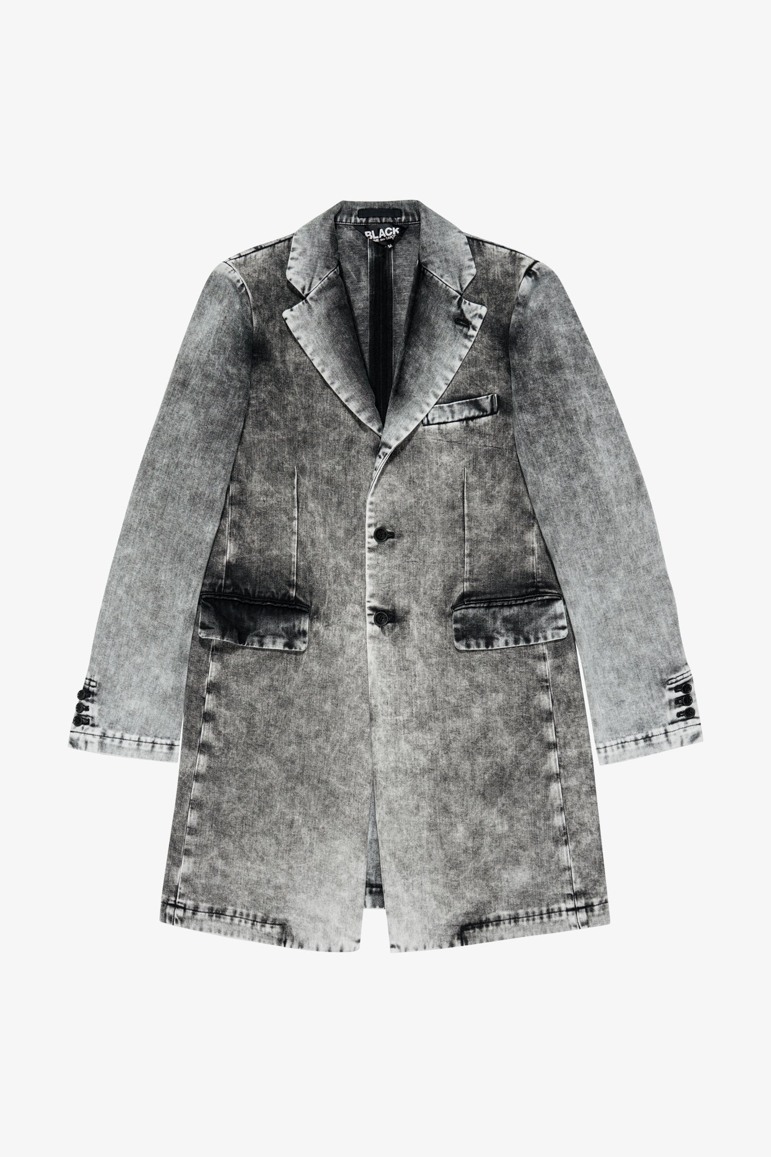 Selectshop FRAME - COMME DES GARCONS BLACK Faded Denim Coat Outerwear Dubai