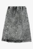 Selectshop FRAME - COMME DES GARCONS BLACK Faded High-Waist Denim Skirt Bottoms Dubai