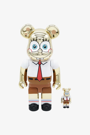 "Selectshop FRAME - MEDICOM TOY SpongeBob Square Pants ""Gold Chrome"" Be@rbrick 400% + 100% Collectibles Dubai"