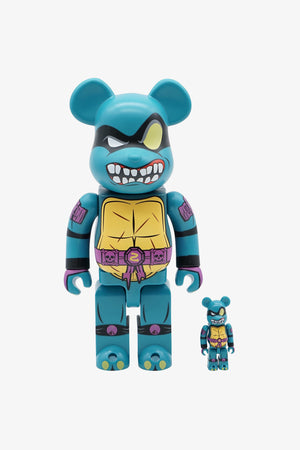 "Selectshop FRAME - MEDICOM TOY TMNT ""Slash"" Be@rbrick 400% + 100% Collectibles Dubai"