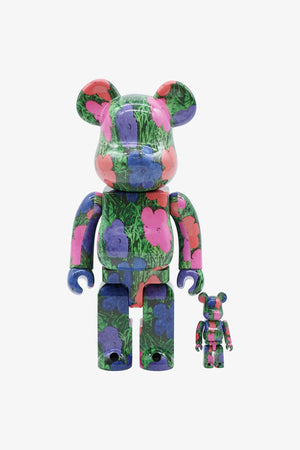 "Selectshop FRAME - MEDICOM TOY Andy Warhol ""Flowers"" Be@rbrick 400% + 100% Collectibles Dubai"