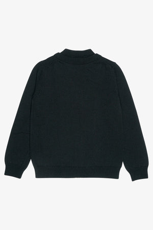 Selectshop FRAME - COMME DES GARÇONS BLACK Fixed Double Front Wool Cardigan Sweats-Knits Dubai