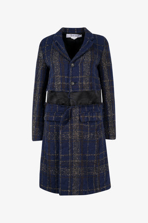Metallic Check Coat