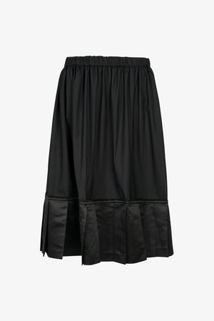 Selectshop FRAME - COMME DES GARÇONS BLACK Pleated Hem Drawstring Wool Skirt Bottoms Dubai