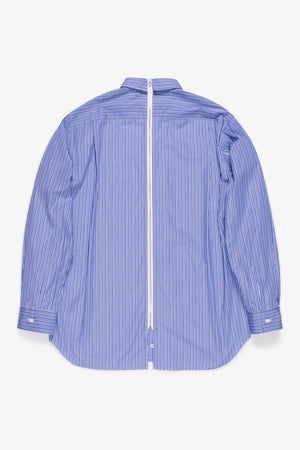 FRAME - COMME DES GARCONS SHIRT Striped Zip-Up Shirt