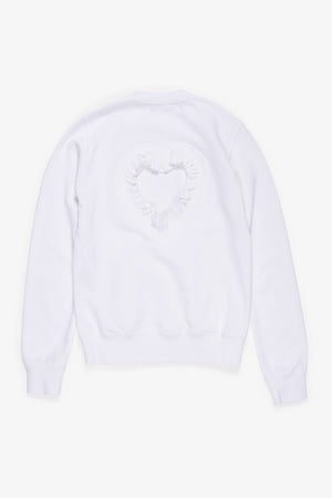 Selectshop FRAME - COMME DES GARÇONS GIRL Cut-Out Heart Fitted Sweater Sweatshirts Dubai
