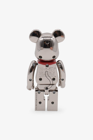 Beckoning Cat Silver Plated Be@rbrick 200%