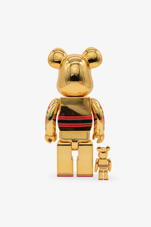 Kokeburick Gold Plated Be@rbrick 400%+ 100%