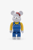 Selectshop FRAME - MEDICOM TOY Hello Kitty Blue Overall Be@rbrick 400% Toys Dubai