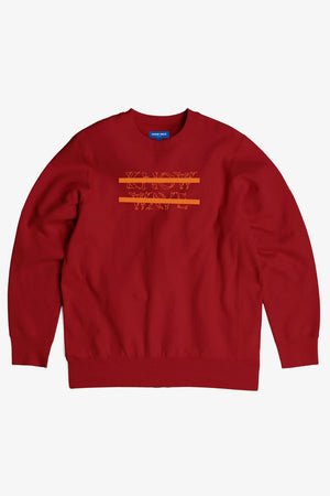 Selectshop FRAME - KNOW WAVE Classic Logo Anxiety Crewneck Sweatshirts Dubai