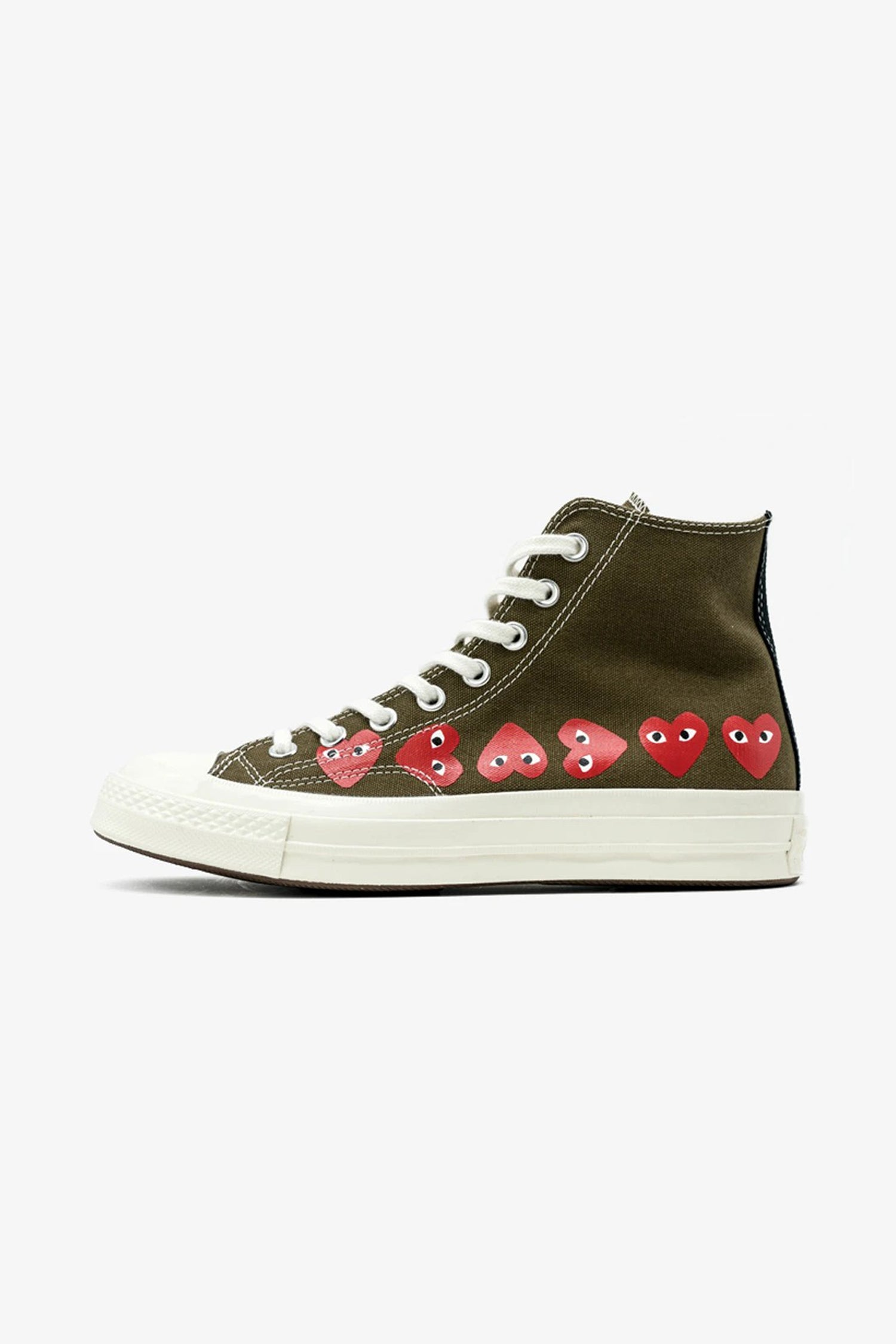 FRAME - COMME DES GARCONS PLAY Converse Chuck Taylor All Star '70 High Multi Red Heart