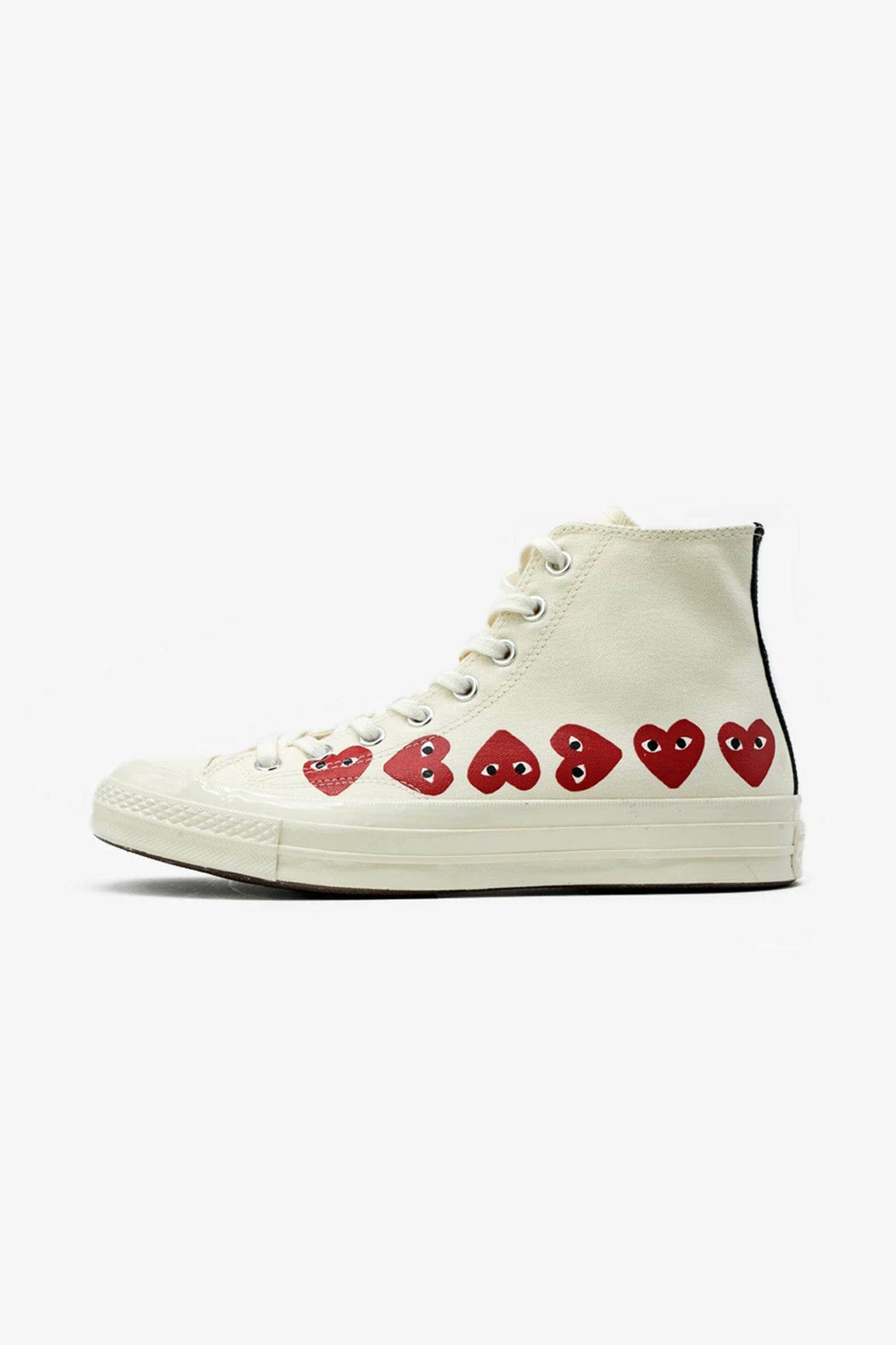 Selectshop FRAME - COMME DES GARCONS PLAY Converse Chuck Taylor All Star '70 High Multi Red Heart Footwear Dubai