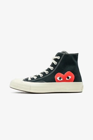 Selectshop FRAME - COMME DES GARCONS PLAY Converse Chuck Taylor All Star '70 High Red Heart Footwear Dubai