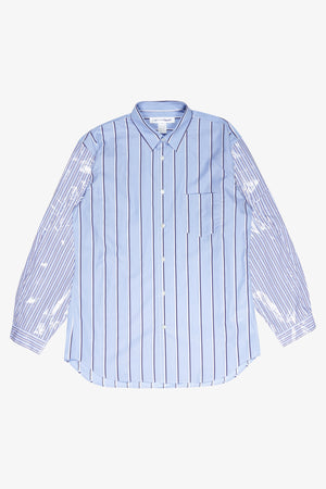 Selectshop FRAME - COMME DES GARÇONS SHIRT Coated Sleeves Striped Shirt Shirt Dubai