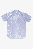 Selectshop FRAME - COMME DES GARÇONS SHIRT Coated Short Sleeves Striped Shirt Shirt Dubai
