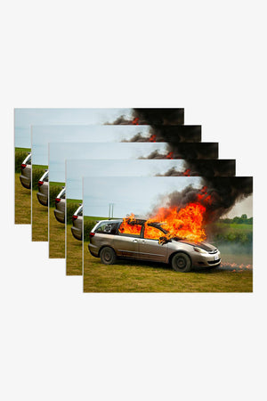 Selectshop FRAME - WKND Van On Fire Sticker (25 PACK) Accessories Dubai