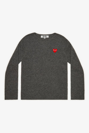 Red Heart Crewneck Jumper