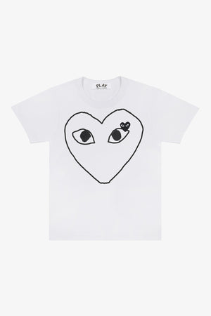 Selectshop FRAME - COMME DES GARCONS PLAY Empty Big Black Heart T-Shirt T-Shirt Dubai