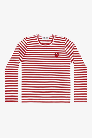 Selectshop FRAME - COMME DES GARCONS PLAY Red Heart Red Stripes Longsleeve T-Shirt Dubai