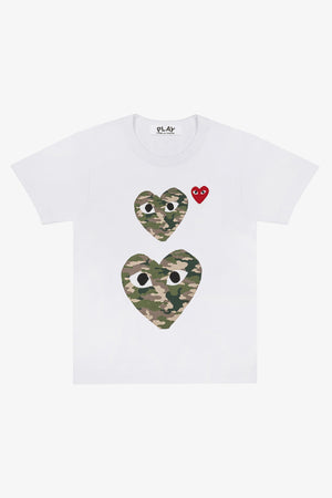 Camouflage Double Heart T-Shirt