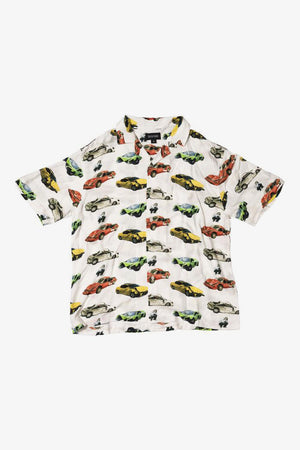 Wrecked Cars Button Up