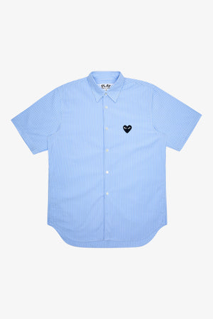 Selectshop FRAME - COMME DES GARCONS PLAY Striped Short Sleeve Shirt Shirts Dubai