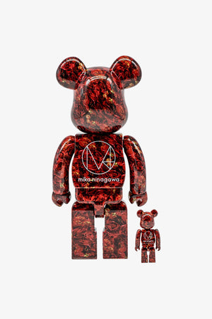 "FRAME - MEDICOM TOY Mika Ninagawa ""Leather Rose"" Be@rbrick 400%+100%"