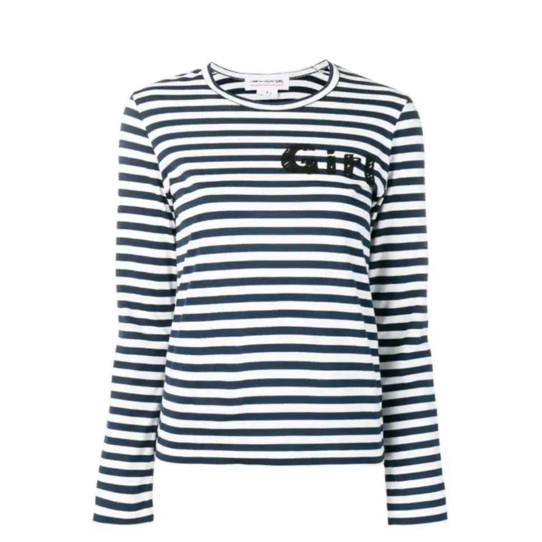 FRAME - COMME DES GARCONS GIRL Striped Long-Sleeve