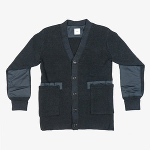 Selectshop FRAME - TS(S) Shetland Wool Low Guage Knit Long Army Cardigan Outerwear Dubai