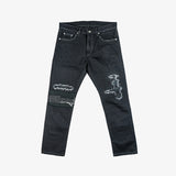 Selectshop FRAME - LUKER Damaged/ C-PT Denim Jeans Bottoms Dubai