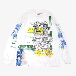 Visions: Hand Printed White Long Sleeve