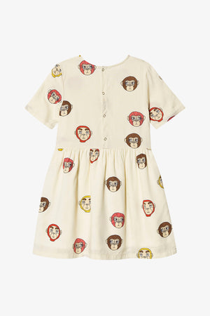 Selectshop FRAME - MINI RODINI Monkey Woven Dress Kids Dubai