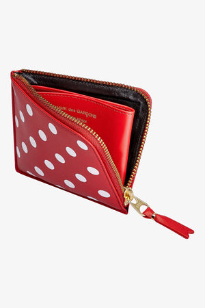 Selectshop FRAME - COMME DES GARCONS WALLETS Polka Dot Leather Wallet (SA3100PD) Accessories Dubai