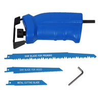Reciprocating Attachment Drill Saw 3x - Metal, Wood & Pruning