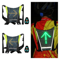 Reflective Cycling Turn Signals Vest - Remote Controller
