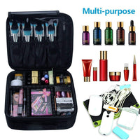 Portable Makeup Case 10.3'' with Adjustable Dividers